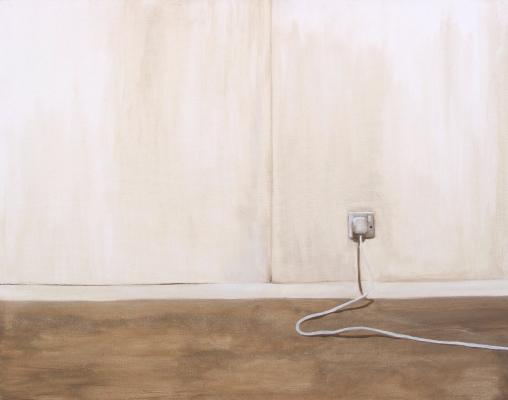 Painting entitled Plug and wire (after M.W)