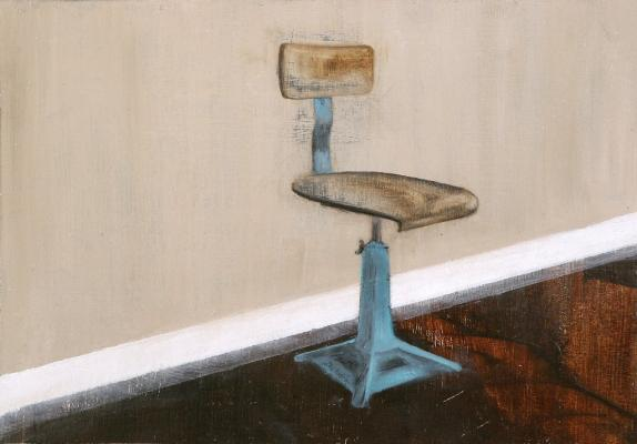 Painting entitled Singer chair