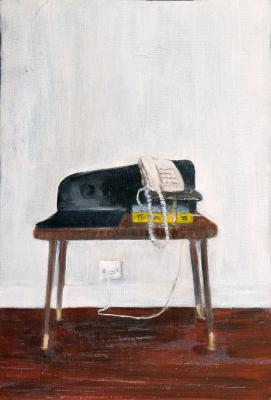 Painting entitled 60's telephone table