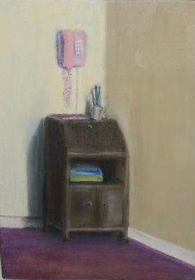 Painting entitled Pink telephone